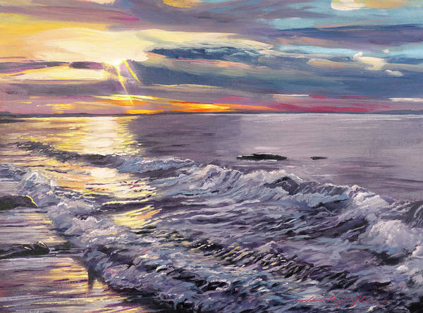 Painting - Zuma Beach Shoreline by David Lloyd Glover