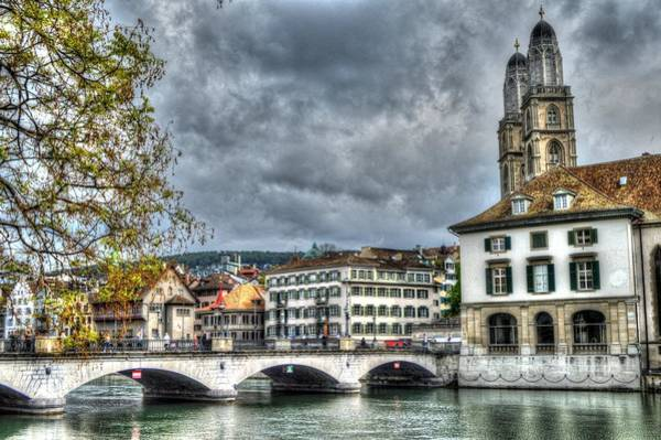 Photograph - Zurich Switzerland by Bill Hamilton