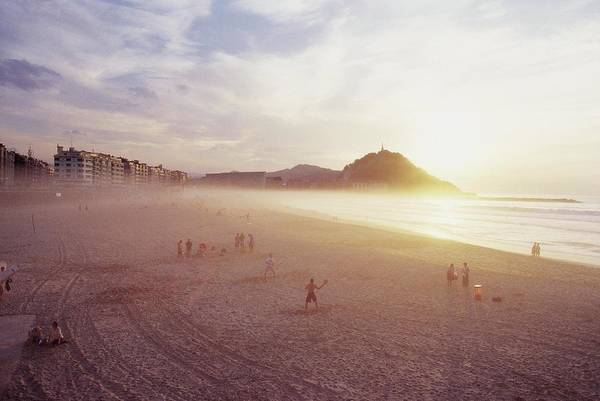 Photograph - Zurriola Beach, San Sebastian View At by Cristina Candel