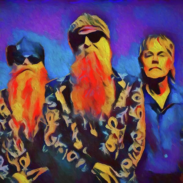 Painting - Zz Top by Dan Sproul