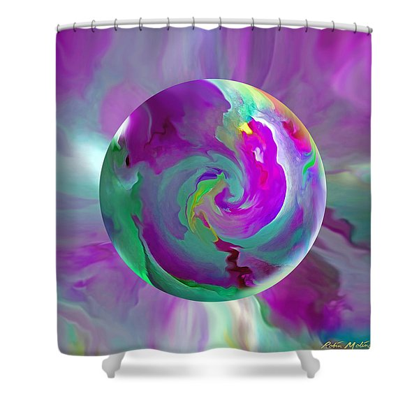 Perpetual Morning Glory Shower Curtain