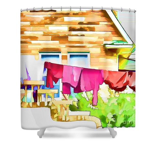 A Summer's Day - Digital Art Shower Curtain