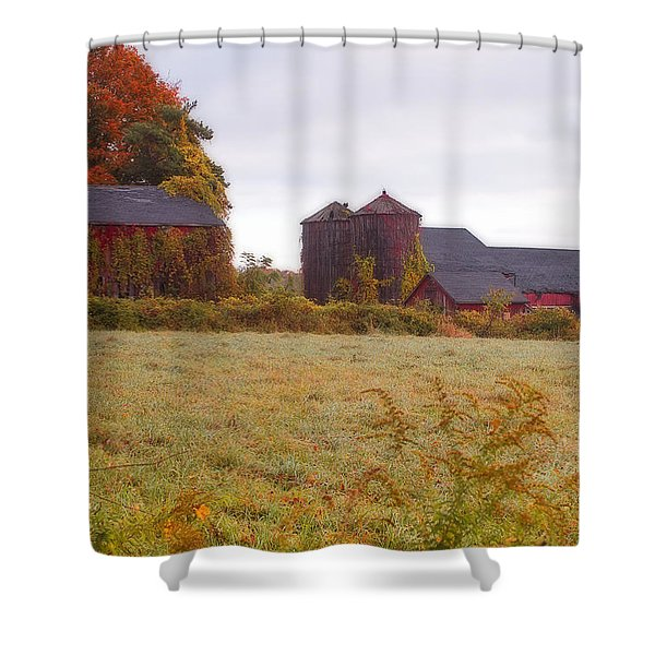 Abandoned Connecticut Farm  Shower Curtain