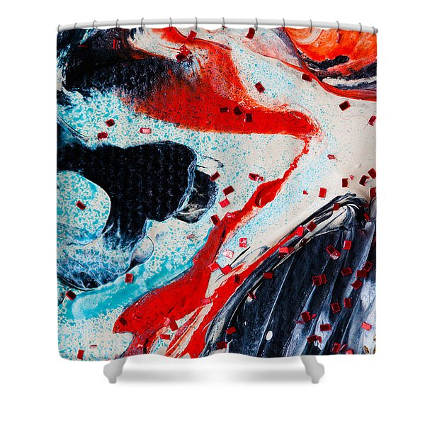 Abstract Original Artwork One Hundred Phoenixes Untitled Number Fifteen Shower Curtain