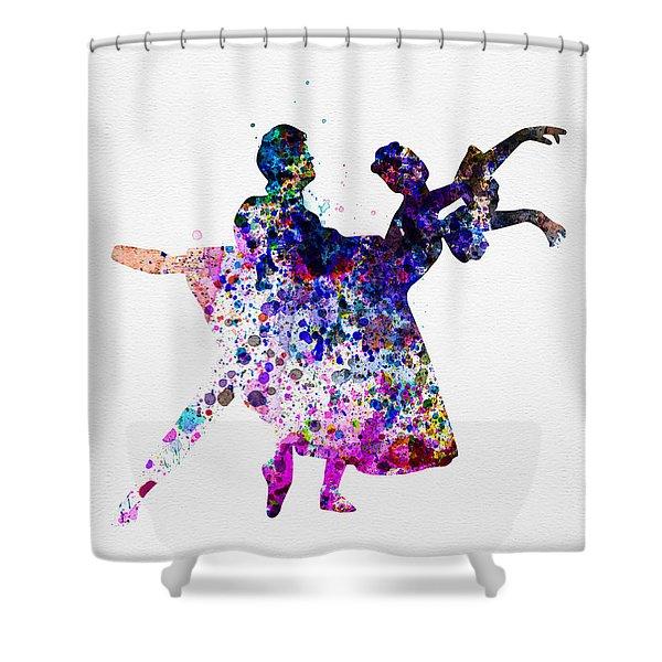 Ballet Dancers Watercolor 1 Shower Curtain