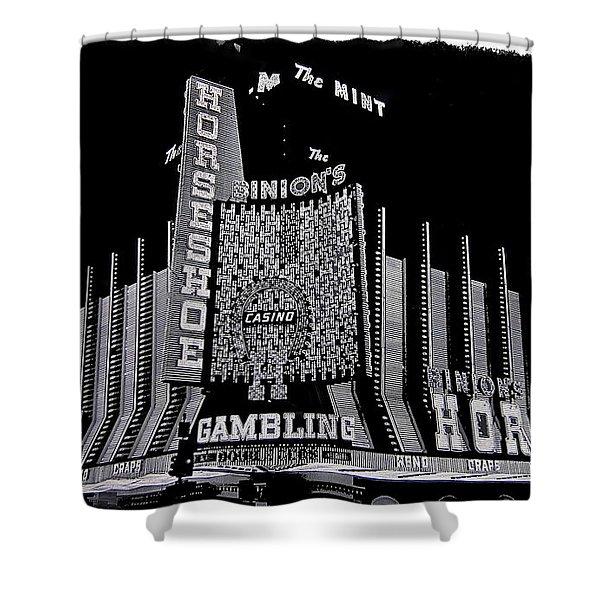 Binion's Horseshoe Casino Exterior Casino Center Las Vegas Nevada 1979-2014 Shower Curtain