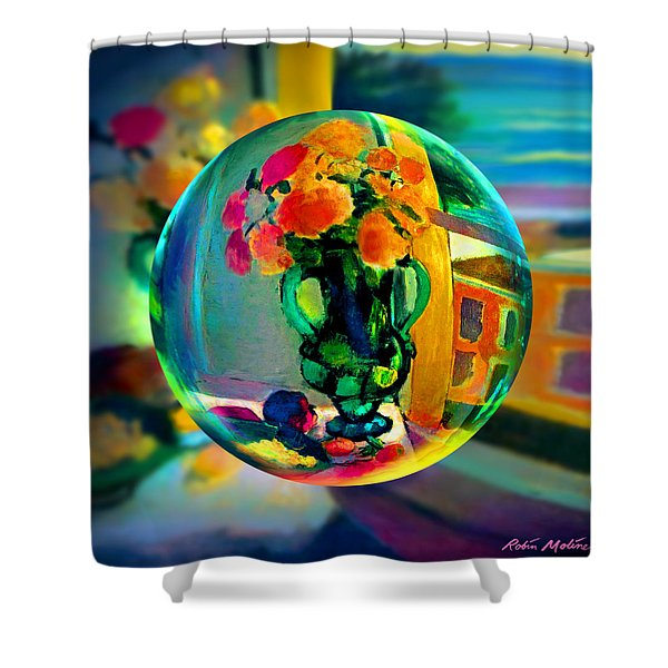 Cercle La Vie En Rose  Shower Curtain
