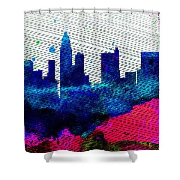 Columbus City Skyline Shower Curtain