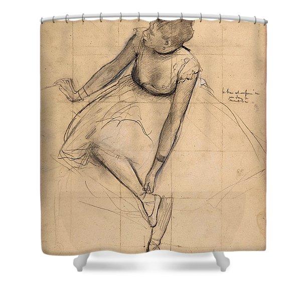 Dancer Adjusting Her Slipper Shower Curtain