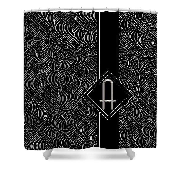 Deco Jazz Swing Monogram ...a Shower Curtain