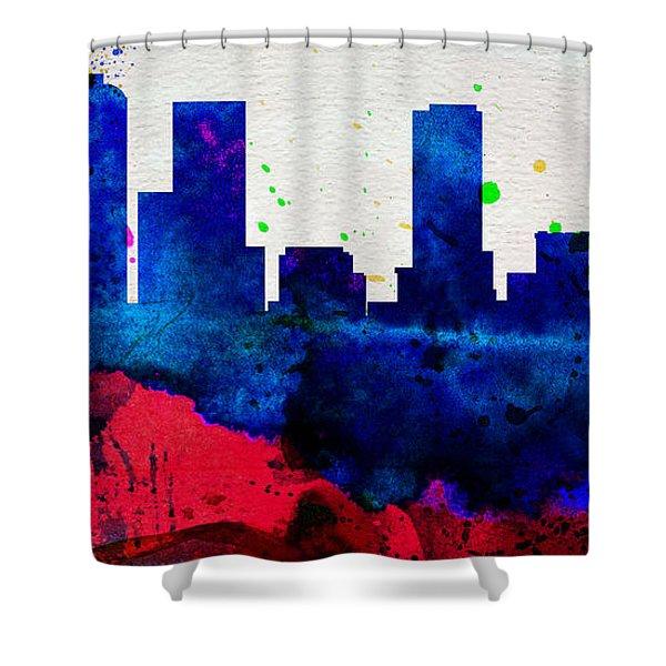 Denver City Skyline Shower Curtain