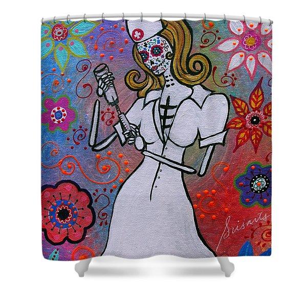 Dia De Los Muertos Nurse Shower Curtain