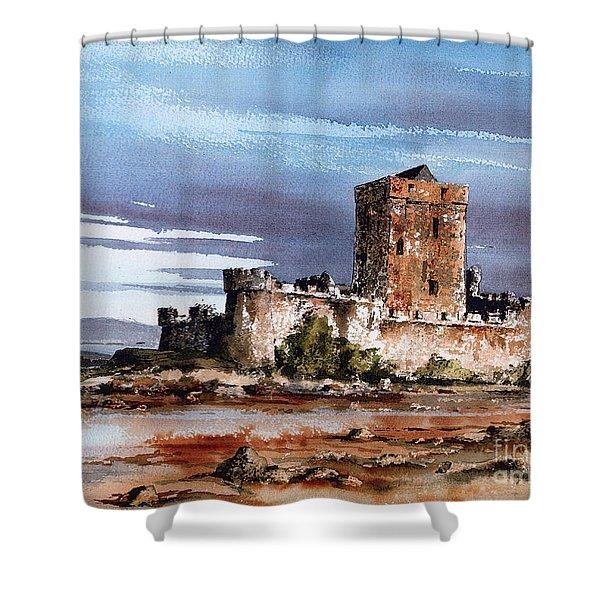 Doe Castle In Donegal Shower Curtain