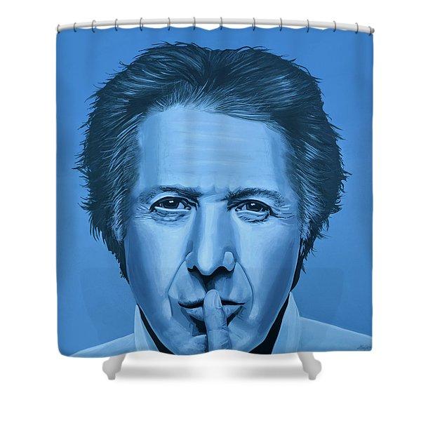 Dustin Hoffman Painting Shower Curtain