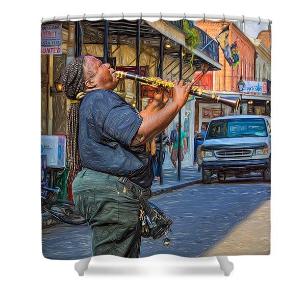 Feel It - Doreen's Jazz New Orleans 2 Shower Curtain