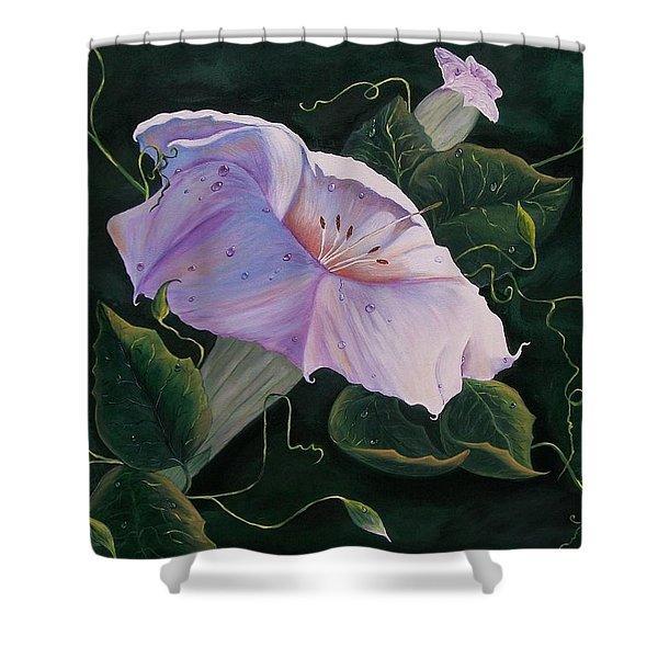 First  Trumpet Flower  Of Summer Shower Curtain