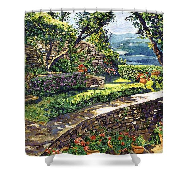 Garden Stairway Shower Curtain