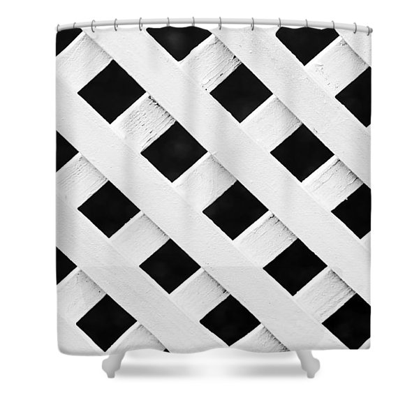 Lattice Fence Pattern Shower Curtain