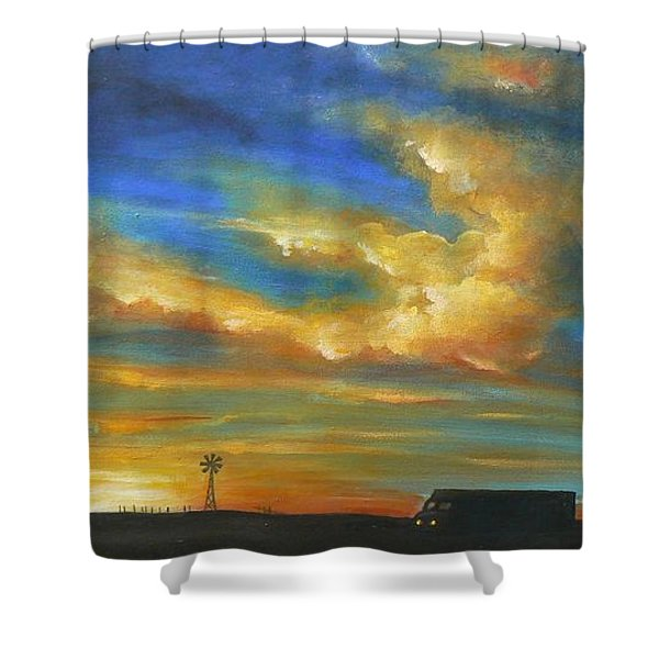 On Route 66 To Amarillo Shower Curtain