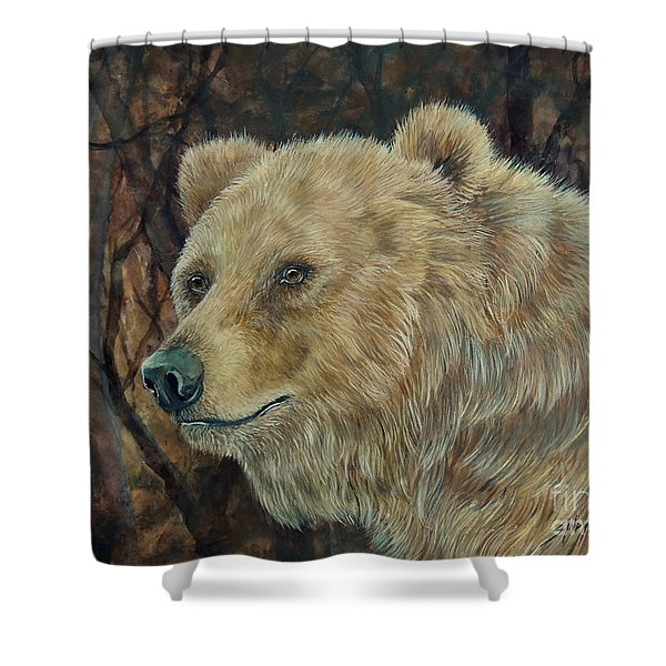 Out Of The Dark.  Shower Curtain