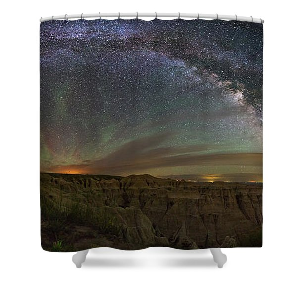 Pinnacles Overlook At Night Shower Curtain