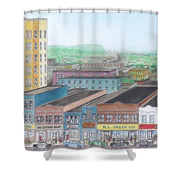Portsmouth Ohio Dime Store Row 4th To 5th Shower Curtain