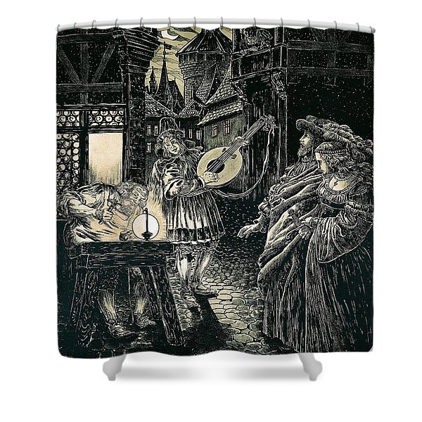 Poster Of The Mastersingers Of Nuremberg  Shower Curtain