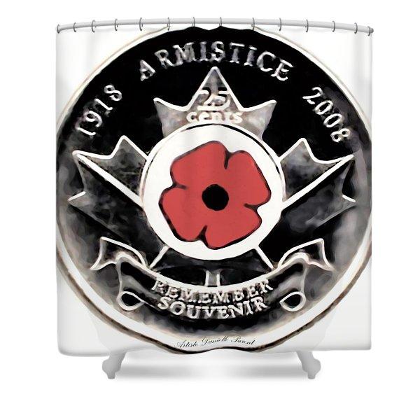 Remember Armistice Jour Du Souvenir  Shower Curtain