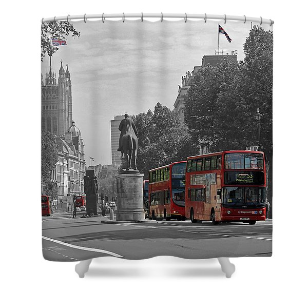 Routemaster London Buses Shower Curtain