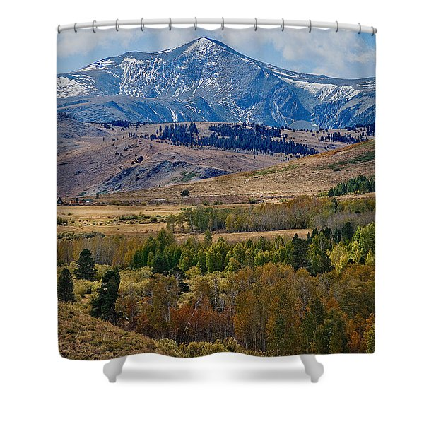 Shower Curtain featuring the photograph  Sierras Mountains by Mae Wertz