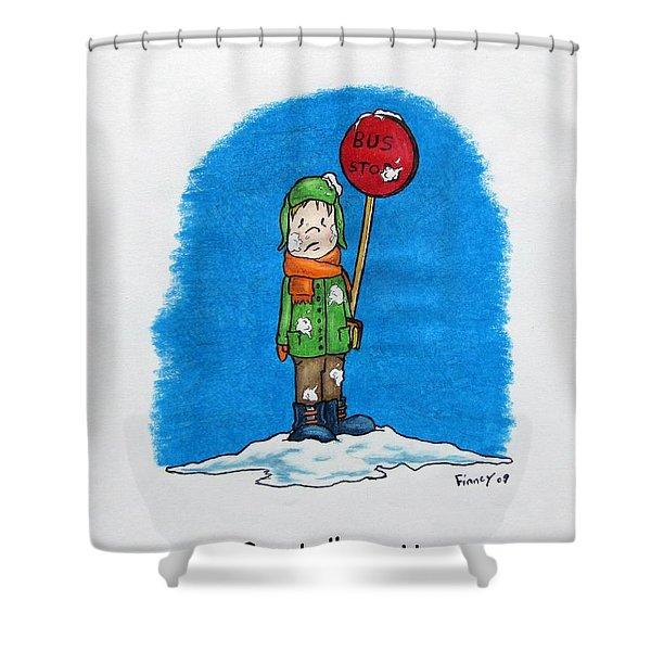 Snowballs Suck Shower Curtain