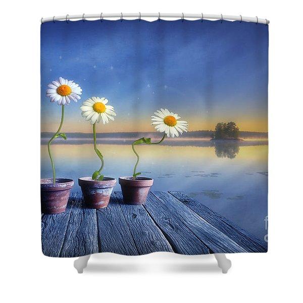 Summer Morning Magic Shower Curtain