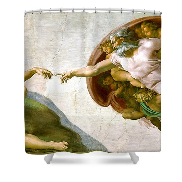 The Creation Of Adam Shower Curtain