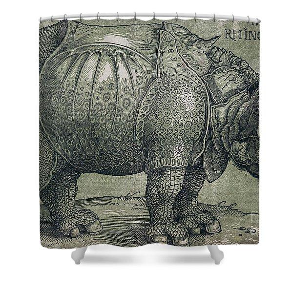 The Rhinoceros Shower Curtain
