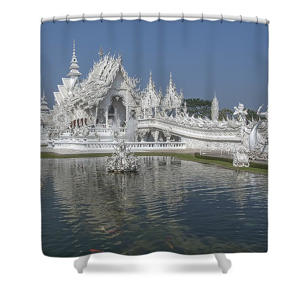 Wat Rong Khun Ubosot Dthcr0001 Shower Curtain