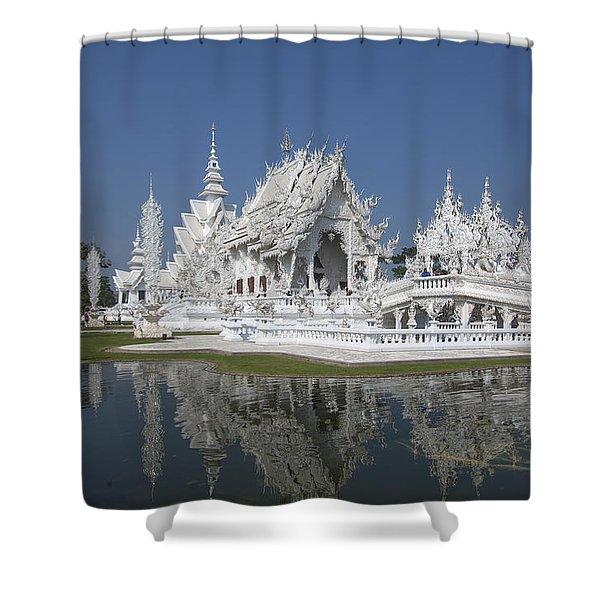 Wat Rong Khun Ubosot Dthcr0002 Shower Curtain