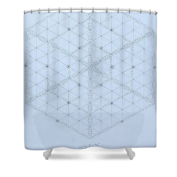 Why Energy Equals Mass Times The Speed Of Light Squared Shower Curtain