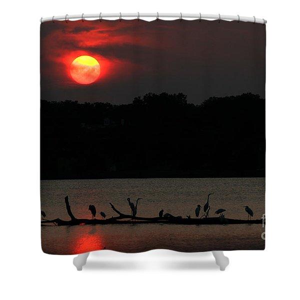 0016 White Rock Lake Dallas Texas Shower Curtain