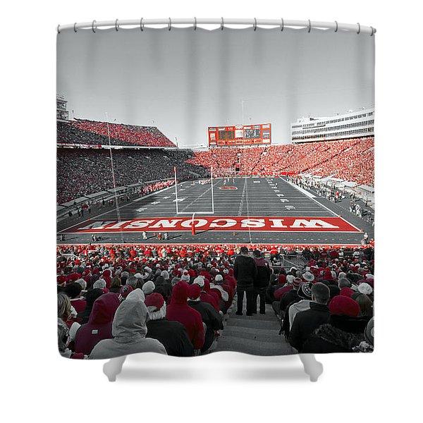 0096 Badger Football Shower Curtain