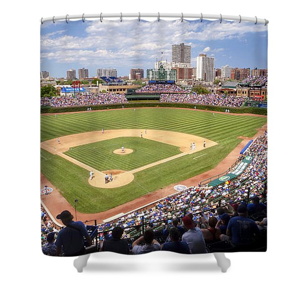 0100 Wrigley Field - Chicago Illinois Shower Curtain