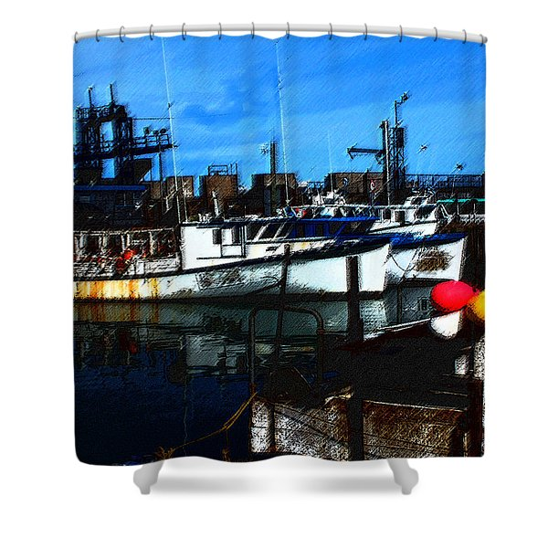 02132015 Novia Scotia Lobster Boat Shower Curtain