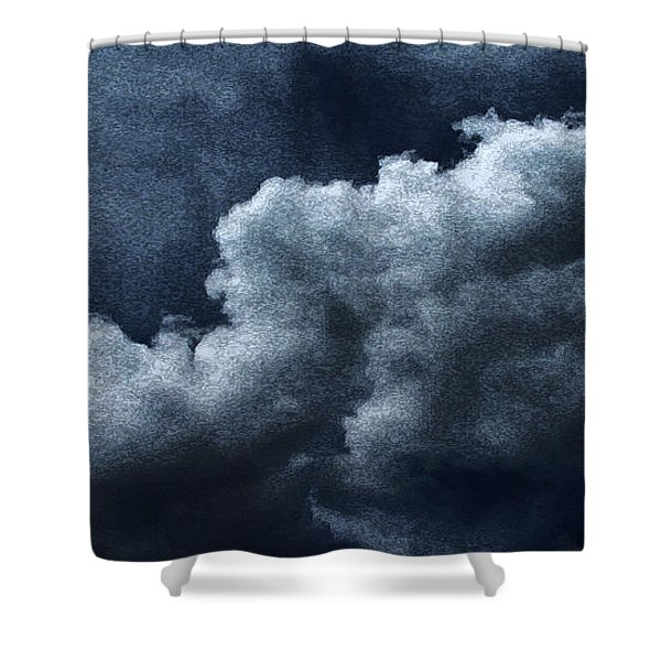 02152015 Water Color Storm Brewing Shower Curtain