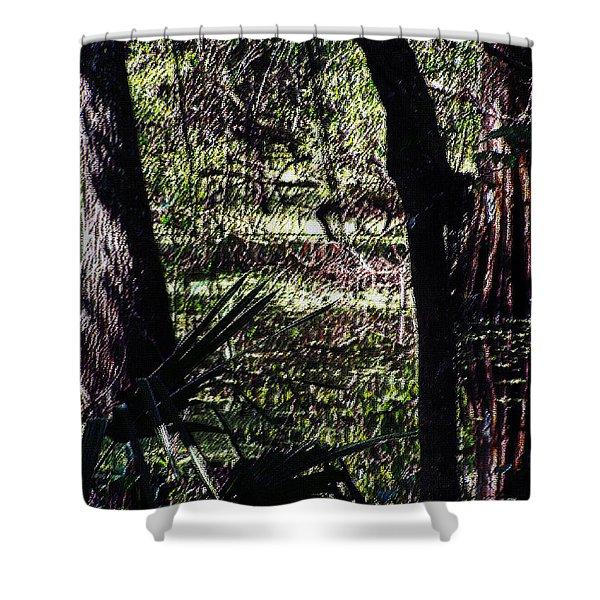 03032015 Southern Marsh Digital Pastel Shower Curtain