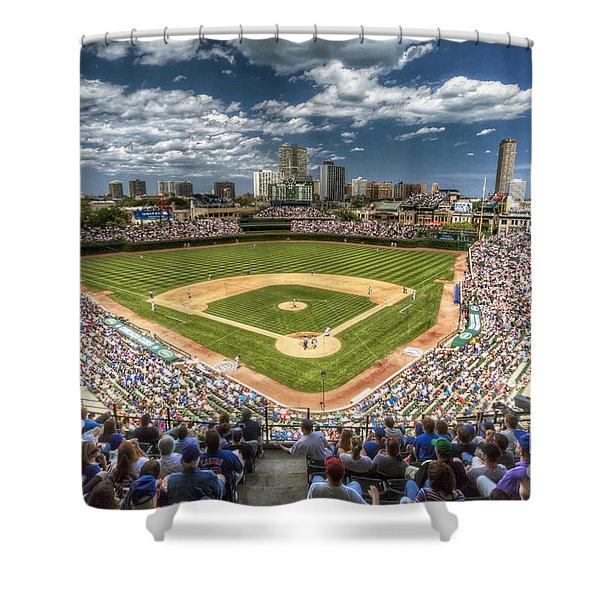 0443 Wrigley Field Chicago  Shower Curtain