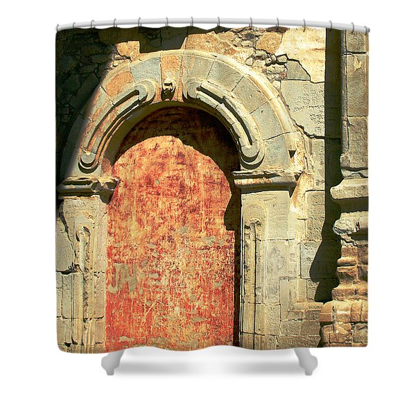 0584 San Juan Capistrano Mission Shower Curtain