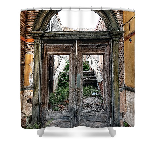 0707 Jerome Ghost Town Shower Curtain