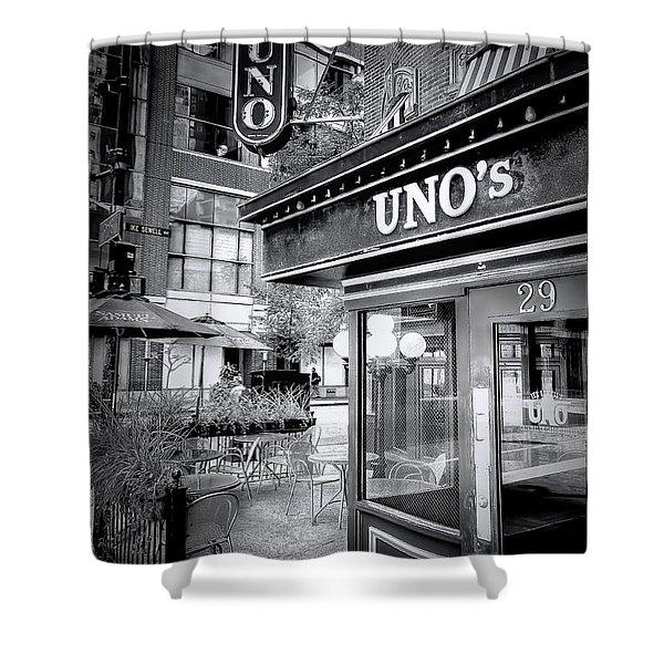 0748 Uno's Pizzaria Shower Curtain