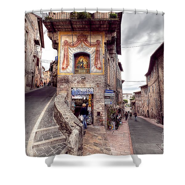 0801 Assisi Italy Shower Curtain