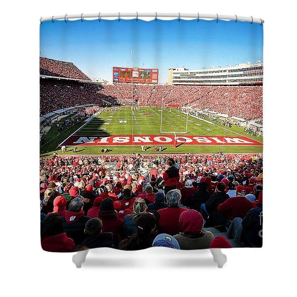 0814 Camp Randall Stadium Shower Curtain