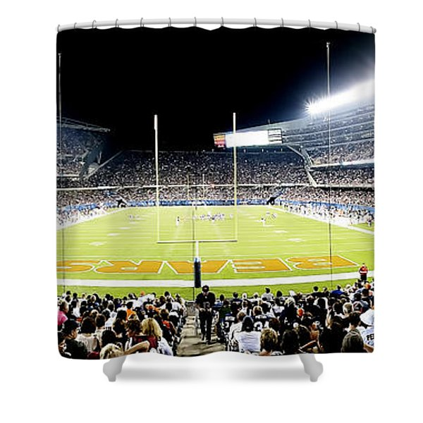 0856 Soldier Field Panoramic Shower Curtain